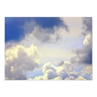 Cumulus storm. card