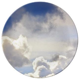 Cumulus storm. porcelain plate