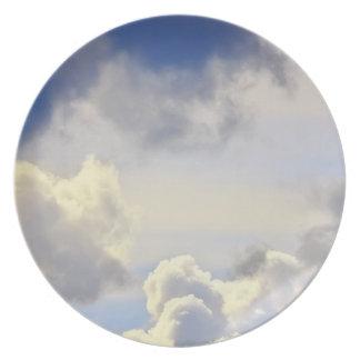 Cumulus storm. plate