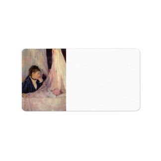 Cuna de Berthe Morisot Etiquetas De Dirección