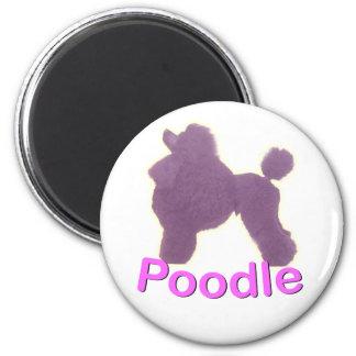 Cuna del caniche de juguete en imán púrpura/rosado