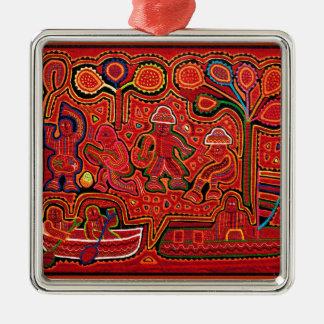 Cuna Indian Men in Cayucos Metal Ornament