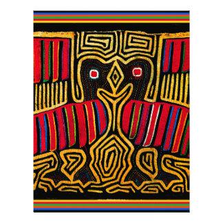 Cuna Indian Mola Duck Design Letterhead