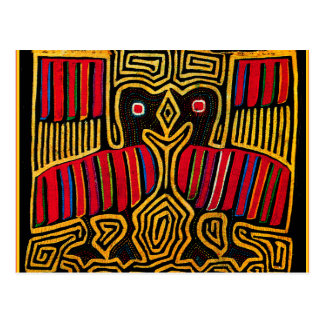 Cuna Indian Mola Duck Design Postcard