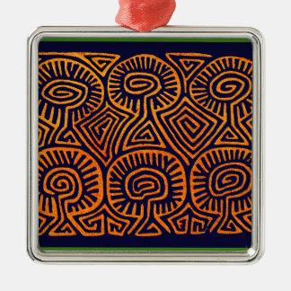 Cuna Indian Mushroom Demons Metal Ornament