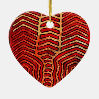 Cuna Indian Tribal Lobster Skeleton Ceramic Ornament