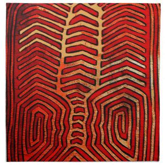 Cuna Indian Tribal Lobster Skeleton Cloth Napkin