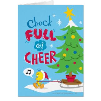 Cuña por completo de la alegría tarjeta de felicitación