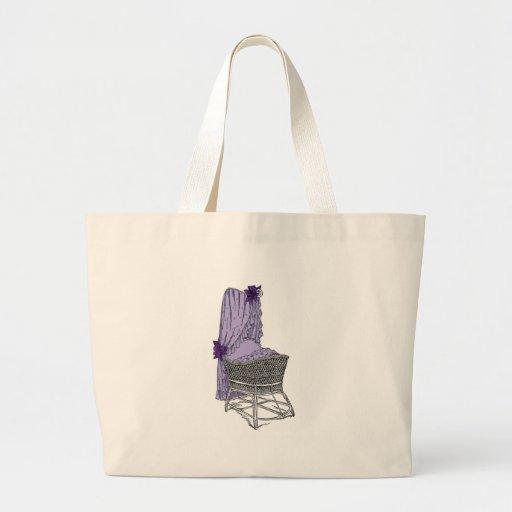 Cuna púrpura del bebé bolsa