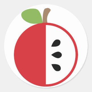 Cuña que falta - Apple Pegatina Redonda