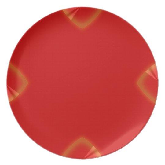Cuña roja del cromo de 4 puntos plato para fiesta