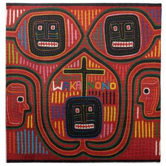 Cuna Tribal Design Cloth Napkin