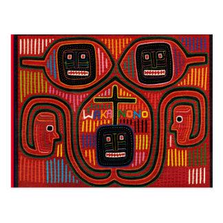 Cuna Tribal Design Postcard
