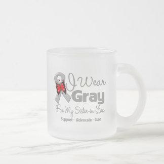 Cuñada - conciencia gris de la cinta tazas de café