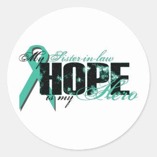 Cuñada mi héroe - esperanza ovárica etiqueta redonda