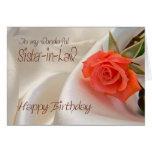 Cuñada, una tarjeta de cumpleaños con un color de