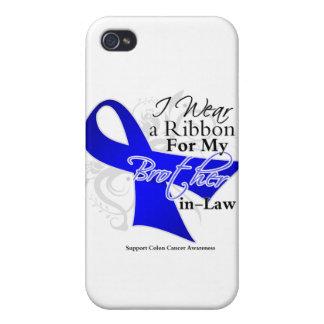 Cuñado Blue Ribbon - cáncer de colon iPhone 4 Carcasa