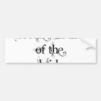 Cuñado de la novia pegatina de parachoque