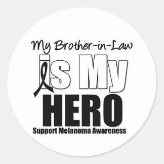 Cuñado del héroe del melanoma pegatinas redondas