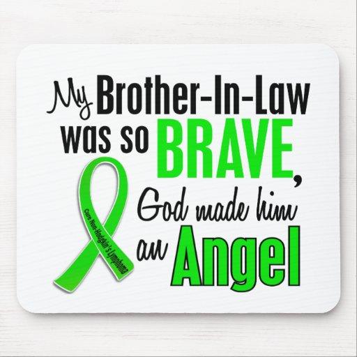 Cuñado del linfoma de Non-Hodgkins del ángel 1 Alfombrillas De Ratón