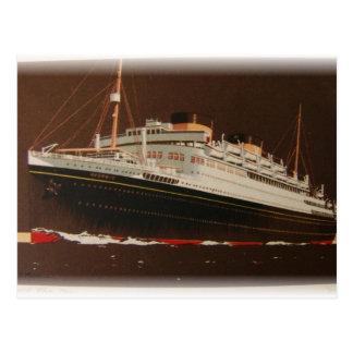 Cunard alinea los años 30 tarjetas postales
