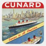 Cunard Europa a toda la América Etiqueta