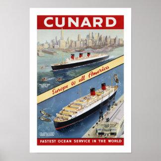 Cunard Europa a toda la América Impresiones