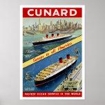 Cunard Europa a toda la América Poster