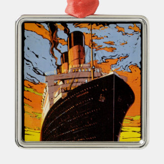 Cunard Europe-America Metal Ornament