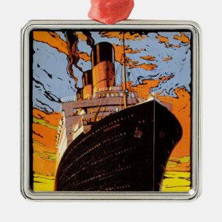 Cunard Europe-America Metal Ornament