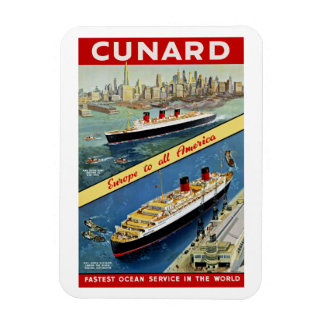 Cunard Europe to all America Magnets