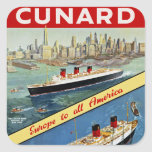 Cunard Europe to all America Sticker