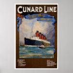 Cunard Line -Lusitania Print