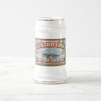 Cunard Line New York Liverpool 1875 Beer Stein