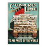 Cunard Line (To all Parts of the World) Postcard