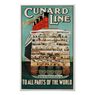 Cunard Line (To all Parts of the World) Poster