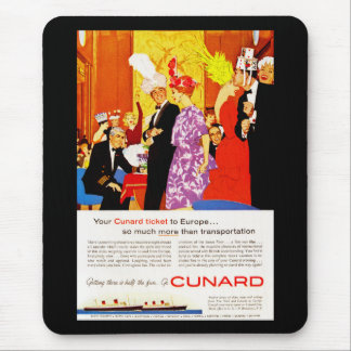 Cunard Queen's Party Ad Mouse Pad