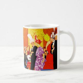 Cunard Queen's Party Ad Classic White Coffee Mug
