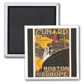 Cunard Steamer Boston 2 Inch Square Magnet