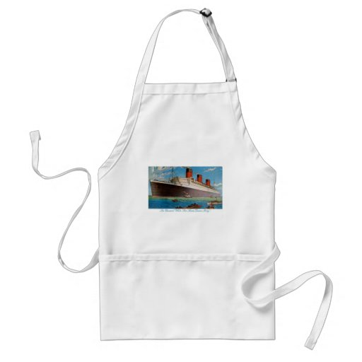 Cunard White Star Line's Queen Mary Adult Apron