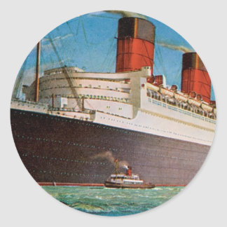 Cunard White Star Line's Queen Mary Classic Round Sticker