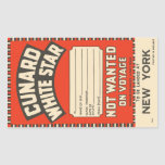 Cunard White Star (to New York) Stickers