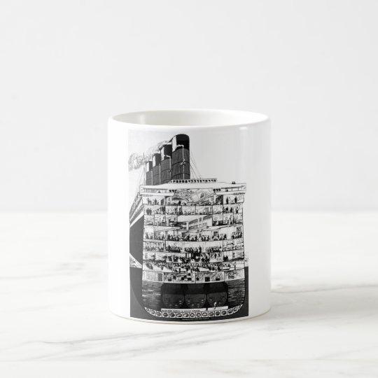 Cunarder Cross Section Coffee Mug