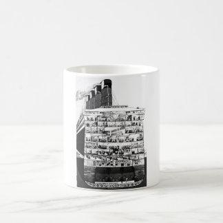 Cunarder Cross Section Classic White Coffee Mug