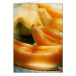 Cuñas del melón dulce tarjeta de felicitación