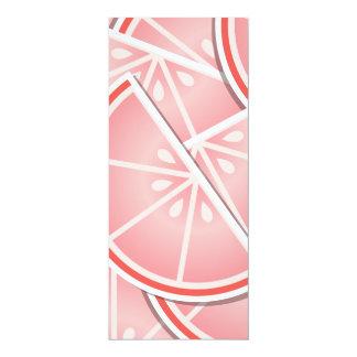 """Cuñas enrrolladas del pomelo rosado invitación 4"""" x 9.25"""""""