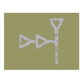Cuneiform script again-Babylonian sky God Postcard