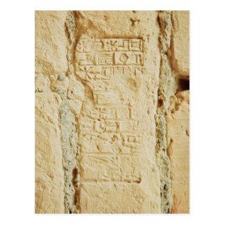 Cuneiform script on a palace wall postcard