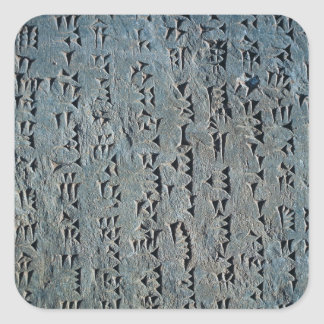 Cuneiform script square sticker