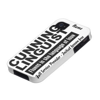 Cunning Linguist custom iPhone 4 Case-Mate